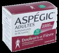 Aspegic Adultes 1000 Mg, Poudre Pour Solution Buvable En Sachet-dose 30 à SAINT-MEDARD-EN-JALLES