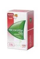 Nicorette 2 Mg Gomme à Mâcher Médicamenteuse Sans Sucre Fruits Plq/105 à SAINT-MEDARD-EN-JALLES