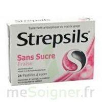 Strepsils Fraise Sans Sucre, Pastille édulcorée à L'isomalt, Au Maltitol Et à La Saccharine Sodique à SAINT-MEDARD-EN-JALLES