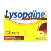 LysopaÏne Ambroxol 20 Mg Pastilles Maux De Gorge Sans Sucre Citron Plq/18 à SAINT-MEDARD-EN-JALLES
