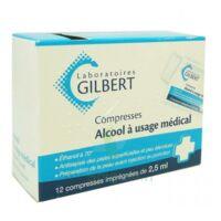 Alcool A Usage Medical Gilbert 2,5 Ml Compr Imprégnée 12sach à SAINT-MEDARD-EN-JALLES