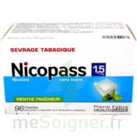 Nicopass 1,5 Mg Pastille Sans Sucre Menthe Fraîcheur Plq/96 à SAINT-MEDARD-EN-JALLES